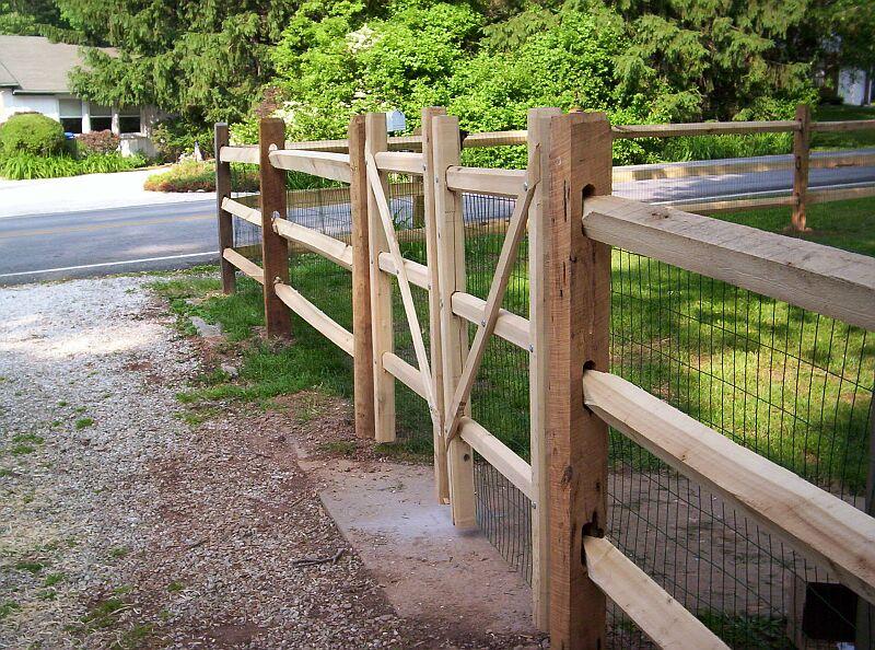 Homemade Split Rail Fence Gate | DoItYourself.com